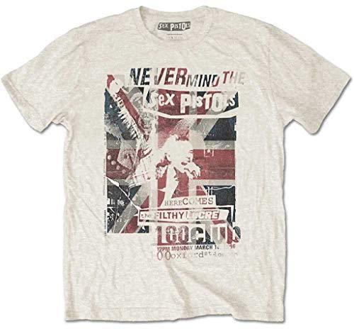Sex Pistols '100 Club' (Natural) T-Shirt (Medium)