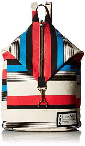 KAVU Free Range Backpack Bucket Style Bag - Sail Stripe