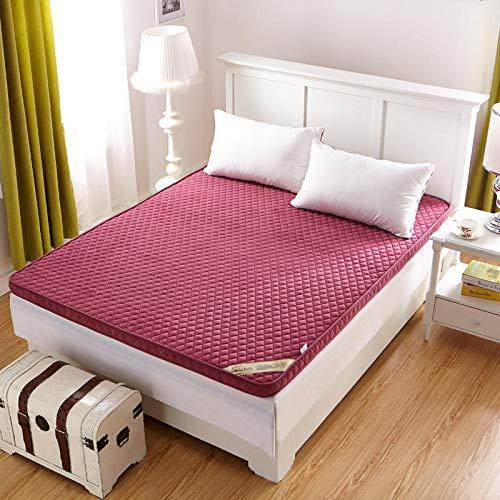 GFYL koraal fluweel matras, dikker anti-slip futon, draagbare vouwen Ultra zachte matras Tatami, multifunctionele enkele dubbele verdieping slaapkussen dutje voor woonkamer slaapzaal slaapzaal