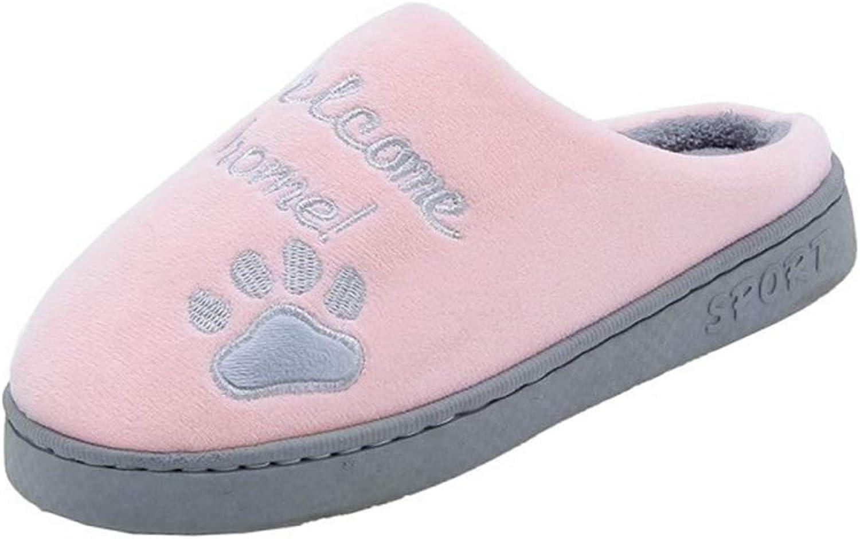 Women Winter Warm Slippers Home Cartoon Lucky Cat Non-Slip Home Couple Men Indoor Bedroom shoes