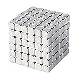 OMO Magnetics 【世界最強マグネット】磁石 マグネット 立体パズル 立方体 角型 方形 5x5x5mm N42 ネオジム ネオジウム ニッケルメッキ 専用ケース付き 216個セット