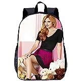 KKASD Cartable pour enfants Bella Thorne Leisure school bag Cartable ultraléger, unisexe et durable, pratique pour les voyages et les sports de plein air, 17 pouces