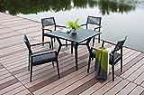 Arbonie Carlina - Conjunto de mesa y sillas de jardín