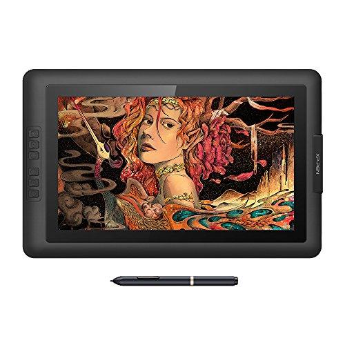 XP-Pen Artist15.6 Grafiktablett IPS Pen Display 8192 Druckempfindlichkeit Batterieloser Stylus 6 Schnelltasten mit Zeichenprogramm Grafikshandschuh Stifthalter Ersatzpitze