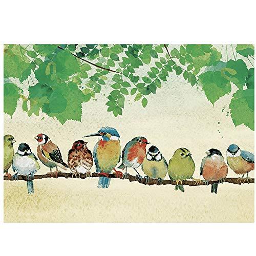 Puzzle Nuestros Amigos emplumados 1000pc Rompecabezas - Aves de Mi Gardenâ Cada Pieza es única, Piezas encajan Perfectamente 30 '' por 20
