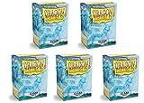 5 Packs Dragon Shield Matte Clear Standard Size 100 ct Card Sleeves Value Bundle!