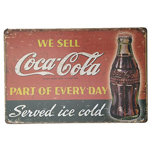 MARQUISE & LOREAN | Coca Cola Placas Decorativas Pared Cocacola Chapas Vintage Metálicas Cocacola Elígeme (20 x 30 cm, Roja y Negra)