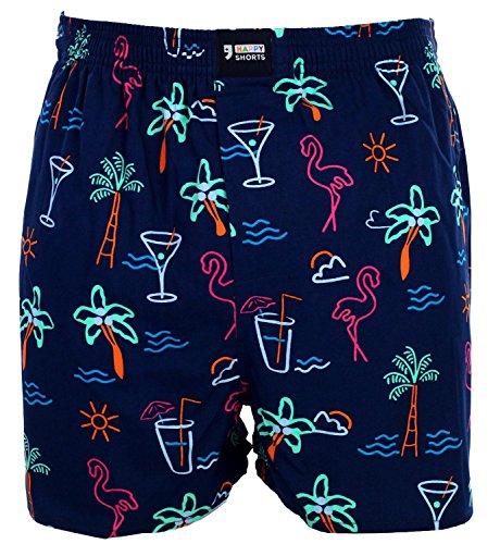 Happy Shorts Webboxer Herren Boxer Motiv Boxershorts Farbwahl, Grösse:S - 4-48, Präzise Farbe:Design 34