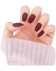 LIARTY 24枚入 ネイルチップ かわいい 中長さ マット 優雅ネイル つけ爪 女の子 ファッション 人気