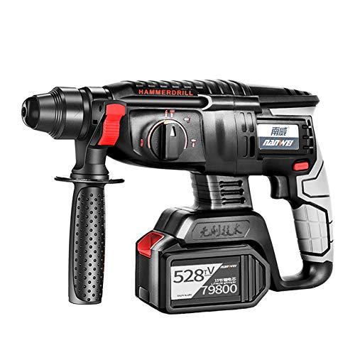 F-JX Cordless Combi Drill, mit Ladegerät und Tragetasche, Schlagbohrmaschine, elektrischer Hammer, Elektropick für Home Improvement & DIY-Projekt,458tv,SingleBattery