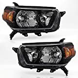 ACANII - For 2010 2011 2012 2013 Toyota 4Runner Black Housing Headlights Headlamps Assembly Replacement Pair Left+Right