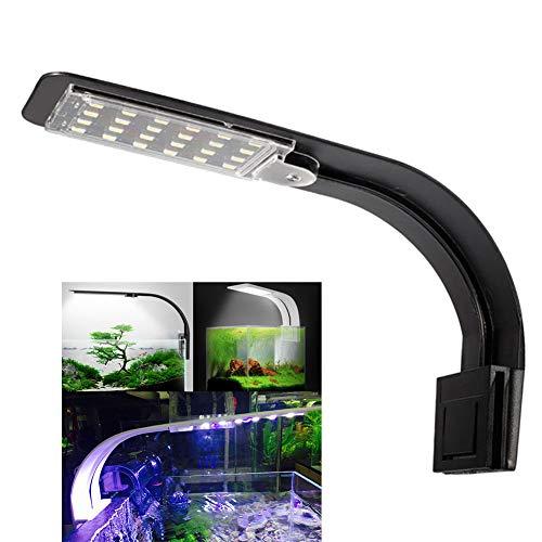 KOKOMALL Lumiere Aquarium Lampe LED Eclairage Blanc et Bleu Nano à Clip pour Poisson Plantes 23-50 cm