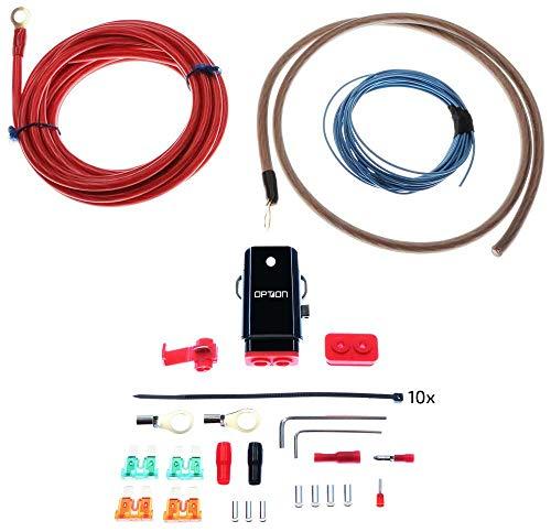 Kabelkit 10 qmm 100% volledig koper, professionele eindversterker aansluitkit 10 mm2