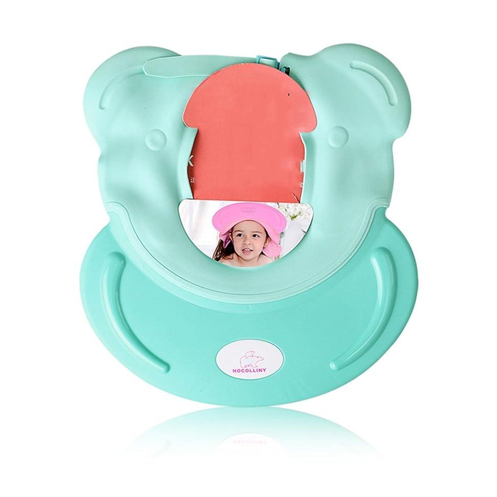 遠近法ペイント特異な多目的調節可能な子供のシャワーキャップシャンプーキャップ防水子供の帽子 (Color : Green)