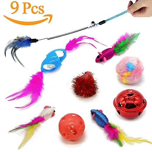 BPS Paquete de Juguetes para Gatos Gatito Juguetes Interactivo Juguete de Atracciones Colores se envia al Azar BPS-3264 * 1