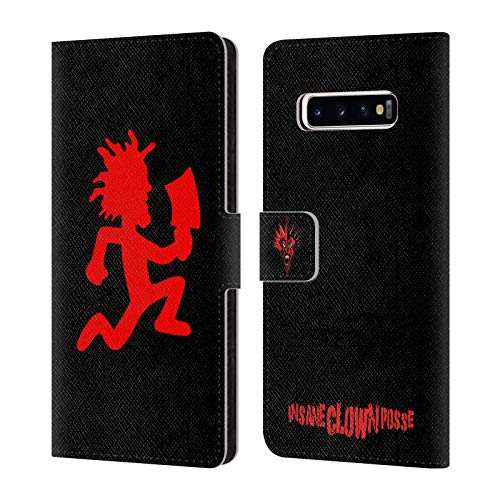 Head Case Designs Officially Licensed by Insane Clown Posse Hatchetman Key Art Leather Book Wallet Case Cover Compatible with Samsung Galaxy S10+ / S10 Plus