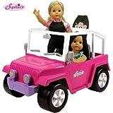 Sophia's Pink 18 Inch Doll Car | 4x4 Beach Cruiser fits 2 Dolls