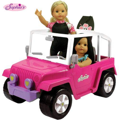 Sophia's Pink 18 Inch Doll Car | 4x4 Beach Cruiser fits 2 Dolls