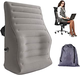 USHMA Portable Inflatable Back Support Pillow for Chair at Home,Office and Travel,Back Pillow for Lower Back Pain Relief,L...