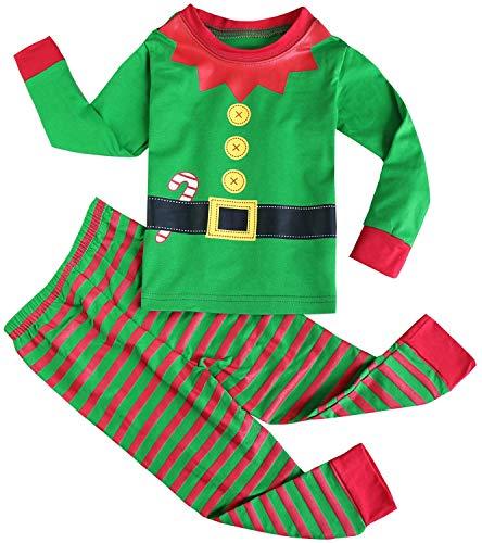 FANCYINN Chicos Chicas Conjuntos de Pijamas de Navidad Niñ