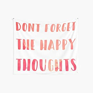 Noick Dont Forget The Happy Thoughts Chance The Rapper 3D Boutique Wall Tapestry Pop Art Retro Micro Microfiber Peach Peach Home Decoration 59.1X51.2 in