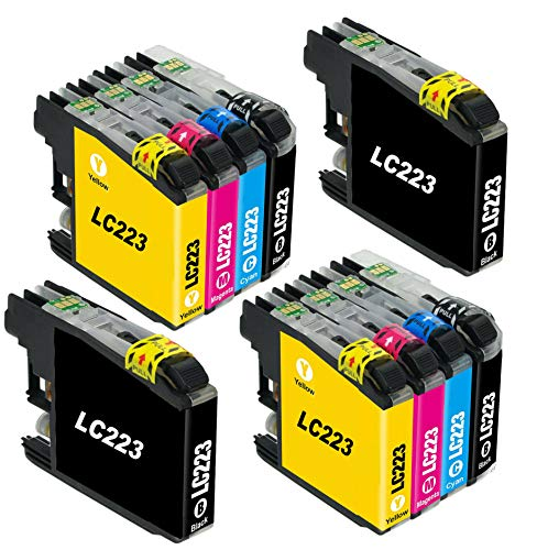 Bergsan 10 Druckerpatronen Kompatibel mit Brother LC223 für MFC-J5320DW DCP-J4120DW MFC-J480DW MFC-J5720DW MFC-J5625DW MFC-J4620DW MFC-J4420DW MFC-J880DW MFC-J4625DW DCP-J562DW MFC-J5620DW MFC-J680DW
