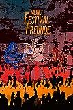 Meine Festival Freunde: Freundebuch für Erwachsene I Jugendliche I Erinnerung an Musikfestival Besuche I Motiv: Konzert vor Mauer
