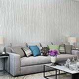Tgcarunr Papel pintado de diseño moderno para salón, dormitorio y fondo de TV (gris)