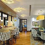 FeiliandaJJ Spiral-Loch LED Wandleuchte Innen Wandlampe Oberfläche installieren LED-Licht Leuchte Beleuchtung für Schlafzimmer, Wohnzimmer, Bad, Flur Treppe (Gelb)