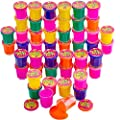 Kicko Mini Noise Putty Toys for Kids - Pack of 48 Slimes - Ideal for Sensory and Tactile Stimulation, Event Prize, Arts and Crafts, Bag Stuffer, Slime Parties, Educational Game, Assorted Color by KCO Brands