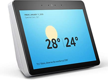 "All-new Echo Show (2nd gen) - Premium sound and a vibrant 10"" HD screen – Sandstone Fabric"