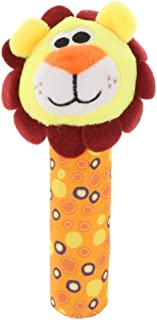 Flameer Cute Stuffed Animal Baby Soft Plush Hand Rattle Squeaker Stick Toy Lion