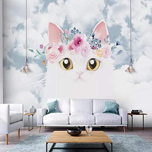 Wallpaper Murals Modern Cartoon Cute Cat Children Room Bedroom Background Wall Decor Painting Papier Peint Mural 3D