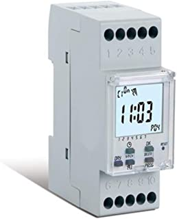 Perry Digital Weekly Time Switch With Automatic Daylight Saving Timer Change 1 Channel - Din Rail 16(2) A / 250V AC - Made...