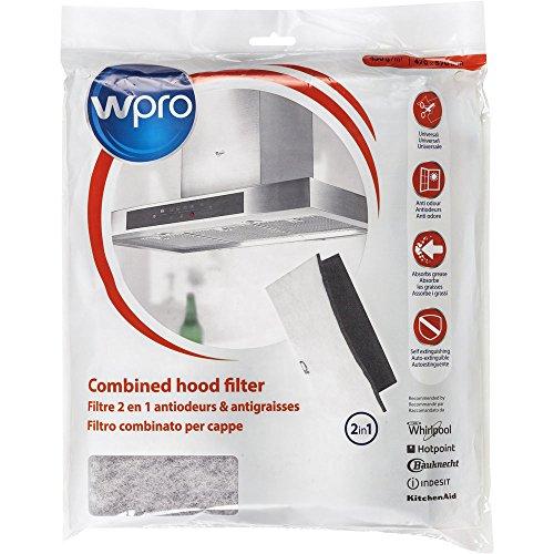 wpro UCF016 - afzuigkapaccessoires/filter voor afzuigkap/actieve kool- en vetfilterset/universeel/op maat te snijden