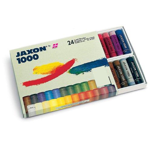 Honsell 47324 - Jaxon 1000 Ölpastellkreide, 24er Set, im Kartonetui, brillante, lichtechte Farben, ideal für Künstler, Hobbymaler, Kinder, Schule, Kunstunterricht, frei von Schadstoffen