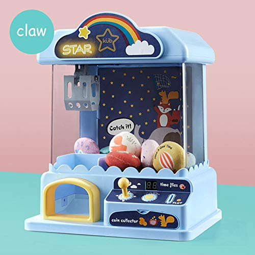 Mini Claw Doll Machine for Kids, Arcade Games Toy Grabber Machine with Sounds and Lights, Best Birthday & Christmas Gifts for Boys & Girls,Blue