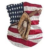 Diadema vintage de la bandera americana de béisbol cara UV protección solar máscara de cuello polaina mágica bufanda bandana bandana para la cabeza pasamontañas para mujeres y hombres