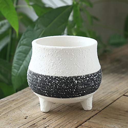 Ceramic Flower Pots for Home Decoration, Snowflake Glaze Succulent Plant Containers, Small Green Flower Pots, Small Bonsai, Can Decorate Living Rooms, Cafes, Etc., and Can Also Purify The Air