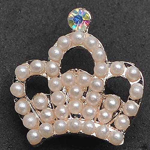 Bling Rhinestone Crown Designer Charms for Croc for Women Shoe Accessories for Croc Shoes Sandals Decoration Metal Tag Letter Accesorios Custom 2