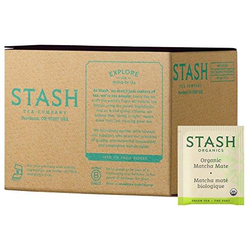 Stash Tea Organic Matcha Mate Tea, Box of 100 Tea Bags