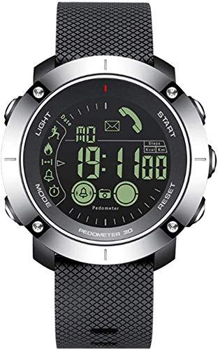 LLDKA Orologi Bluetooth Intelligenti degli Uomini della vigilanza Impermeabile di Sport contapassi cronometro delle chiamate Intelligente Orologio News Alerts,Nero