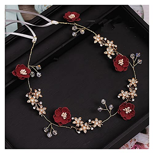 miaoyu Encantadora flor azul rosa hecha a mano hilo joyería flexible suave...