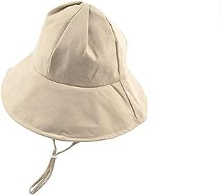 Big Purple Fisherman Hat Simple Solid Color Leisure Basin Cap Girl Personality Travel Sunscreen Visor Hat (Color : Beige, Size : M (56-58cm))