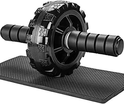 PACEARTH Solid Ab Roller Wheel for Abs Workouts, No Noise Ab Wheel Exercise Equipment with Knee Pad, Ab Wheel Roller for Home Gym Core Workout – Abdominal Exercise Trainer for Men Women