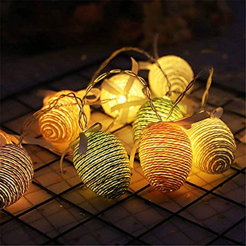 Las Luces de la Cadena de Las Luces de los Huevos de Pascua se encienden, Luces de jardín para Patio, Decoraciones de Fiesta, decoración navideña,1.5M (10 Leds)