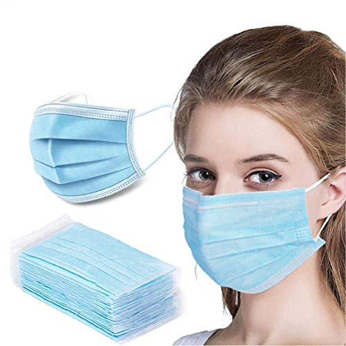 Ships from Canada - 100 Pack Disposable Face Safety, 3-Ply Ear Loop -Ships from Canada - in Stock