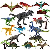 """Dinosaur Toys Realistic,FUNNISM 17-pack 9"""" Educational Toy Dinosaur Figures with Movable Jaw,Tail & Joints,Dinosaur Action Figures Set for Kids,Children,Toddlers,Great for Gift, Birthday & Party Favor"""