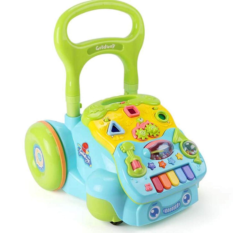 活動ウォーカーベビーウォーカートロリーベビーミュージックのおもちゃ6-18ヶ月子供アンチロールオーバーウォーカー