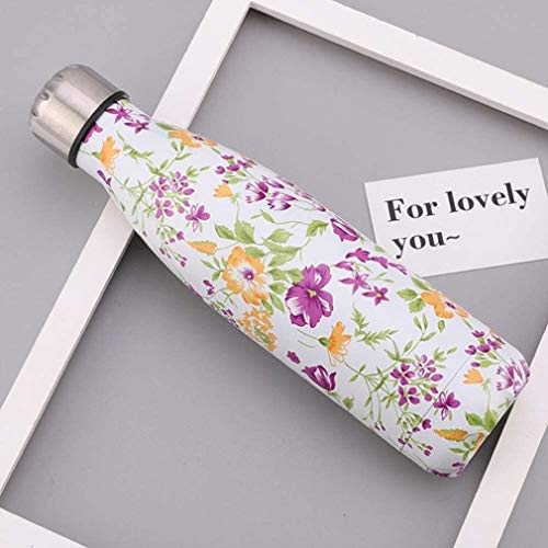Metal Water Bottle,Drink Bottle,Double Walled Stainless Steel Vacuum Insulated Water Bottle,Reusable Double Walled Drinks Bottle -12 Hours Hot,24 Hours Cold - 500 Ml,D,500ml